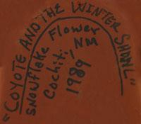 Signature of Stephanie C. Rhoades (1931- ) Snowflake Flower (Estephanita)