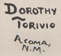 Dorothy Torivio (1946 - 2011) signature