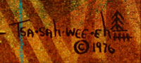 Artist signature: Helen Hardin (1943-1984) Tsa-Sah-Wee-Eh - Little Standing Spruce