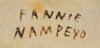 Fannie Polacca Nampeyo (1900-1987) signature