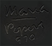 Signatures of Popovi Da and Maria Montoya Poveka Martinez (1887-1980) Pond Lily