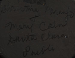 Christina Naranjo and Mary Cain - signatures