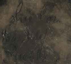 Artist Signature: Crucita Gonzales Calabaza (1921-1999) Blue Corn