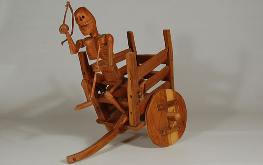 Penitente Carved Cedar Death Cart