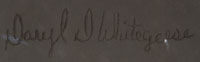 Daryl Duane Whitegeese (1965-) signature.