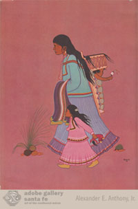 "The back cover: ""Apache Mother"" by Allan Houser."