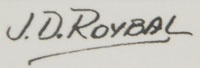 Artist Signatgure - José Disiderio (J.D.) Roybal [1922-1978] Oquwa - Rain God