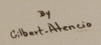 Artist Signature - Gilbert Atencio (1930-1995) Wah Peen