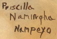Priscilla Namingha Nampeyo (1924-2008) signature