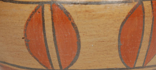 Close up view of side panel design.