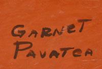 Artist Signature - Garnet Pavatea (1915-1981) Flower Girl