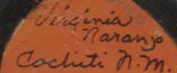 Virginia Naranjo (1932- ) artist signature