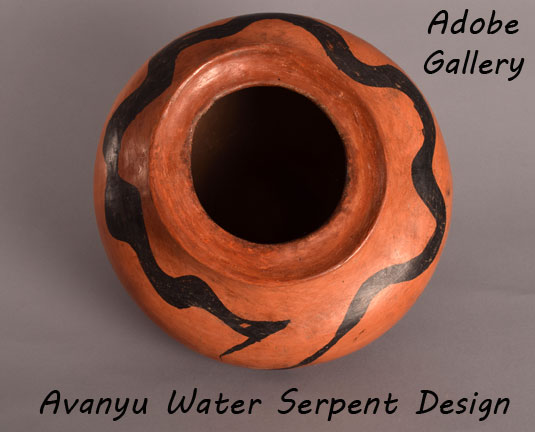 Close up view of side panel design - water serpent.