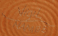 Lonnie Vigil (1949 -) signature.