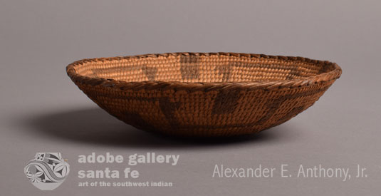 Alternate side view of this Pima basket.