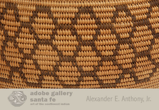 Close up view of side panel NET design of this basket.
