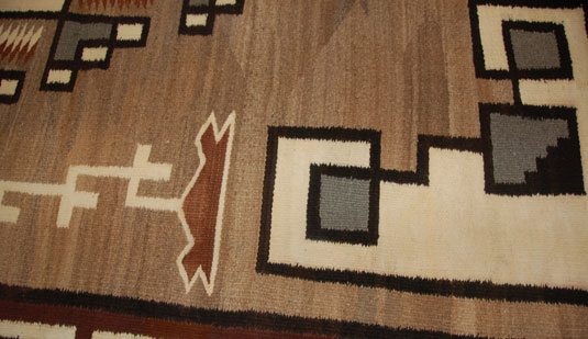 Close up view of this wonderful Navajo textile.