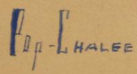 Artist Signature - Merina Lujan Hopkins (1906-1993) Pop Chalee - Blue Flower