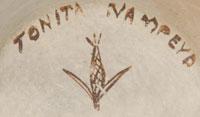 Tonita Hamilton Nampeyo (1934 - present) signature and hallmark.