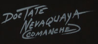 Doc Tate Nevaquaya (1932 - 1996) signature.