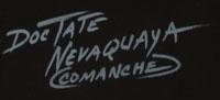 Doc Tate Nevaquaya (1932 - 1996) signature.