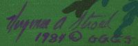 Virginia Stroud (1951- ) signature