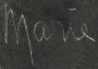 Artist Signature - Maria Montoya Poveka Martinez (1887-1980) Pond Lily