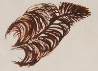 Artist Hallmark - Helen Naha (1922-1993) Feather Woman