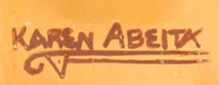 Artist Signature - Karen Abeita (1960- ) Po'Tsa-Weh - Blue Water