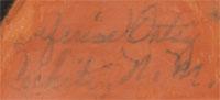 Seferina Ortiz (1931-2007) signature