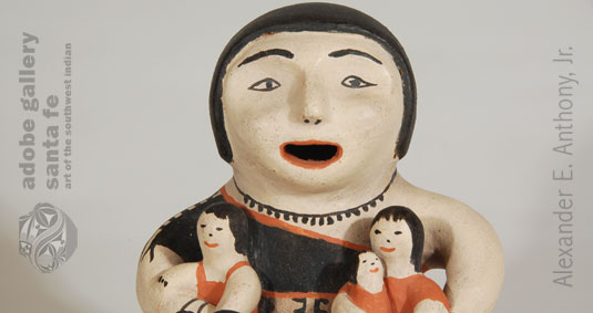 Close up view of this Storyteller Figurine.