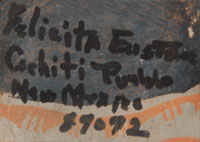 Felicita Eustace (1927 – 2016) signature