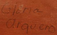 Gloria Arquero Herrera (ca. 1940-) signature