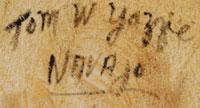 Tom Yazzie (1930- ) signature