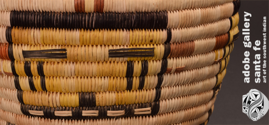 Close up view of the weaving and Katsina Face.