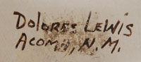 Dolores Lewis Garcia (1938- ) signature