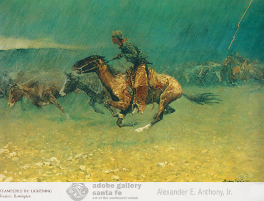 Example image from this book: Stampeded by Lightning by Frederic Remington
