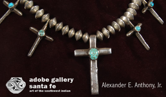 Close up view of this necklace - there are 7 crosses.