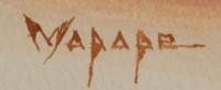Artist Signature - Stephen Mopope (1898-1974) Qued Koi