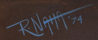 Artist Signature - Raymond Naha, Hopi Pueblo Painter
