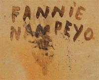 Fannie Polacca Nampeyo (1900-1987) signature - hallmark