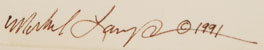 Michael LaCapa (1956-2005) signature