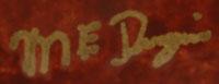 Megan E. Duwyenie - artist signature.