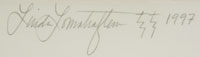 Linda Lomahaftewa (1947- ) signature.
