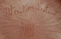 Alton Komalestewa (b.1959) signature