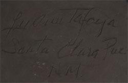 LuAnn Tafoya (1938- ) signature.