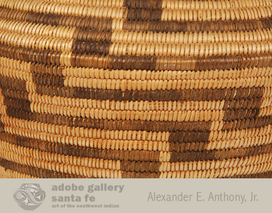 Close up view of the weaving of this basket.