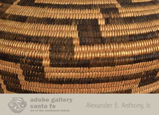 Close up view of this Pima Basket.