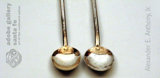 Close up view of the bowls of the spoons.