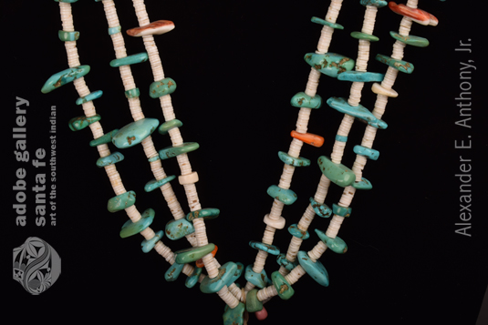 Close up view of the necklace.